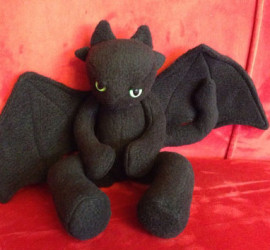 Handmade Toothless Plush found on Etsy