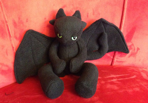 Toothless Plush - Buy your dragon or make it - Plush Toy Box