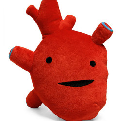Cute realistic heart plush toy
